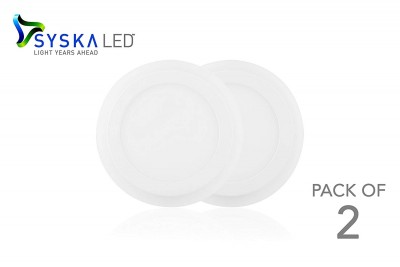 SYSKA LED SSK-2 IN 1-24W-E-WR Recessed Round LED Panel Light, Size: 240*240*12mm, Size for diging hole:210mm,(18+6)W,AC90-300V,SMD2835, Centre white 6500K and Ring Red color
