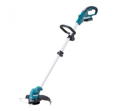 Makita Cordless Grass Trimmer- UR100DZX Lock-off safety lever prevents accidental start up
