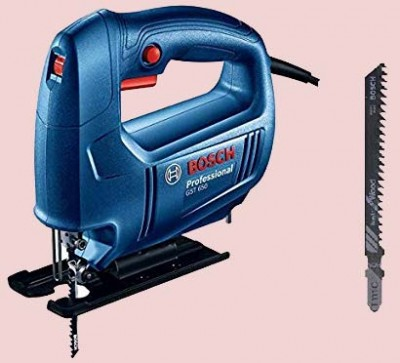 BOSCH Jigsaw GST 650 Professional Compact design, minimal vibration, slim handle, and lightweight for easy use