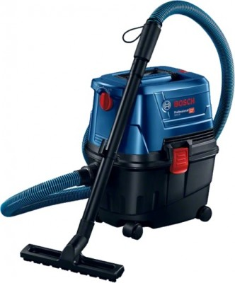 BOSCH Wet/Dry Extractor GAS 15 Professional 2 in 1, freely shifting between vacuuming and blowing