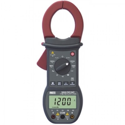 MECO Model 3600 3-3/4 DIGIT 4000 COUNT 1200A DC / 1000A AC TRMS DIGITAL CLAMPMETER WITH BARGRAPH, PEAK HOLD, MAX / MIN & DELTA ZERO