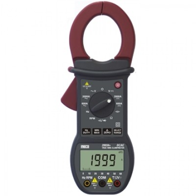 MECO Model 2003A+  3-3/4 DIGIT 6000 COUNT 2000A DC / AC TRMS DIGITAL CLAMPMETER WITH BARGRAPH, RPM, MIN-MAX, & DELTA ZERO