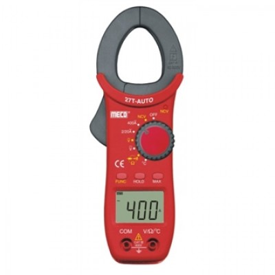 MECO Model 27 T AUTO 3-1/2 DIGIT 2000 COUNT 400A AC AUTORANGING DIGITAL CLAMPMETER WITH TEMPERATURE