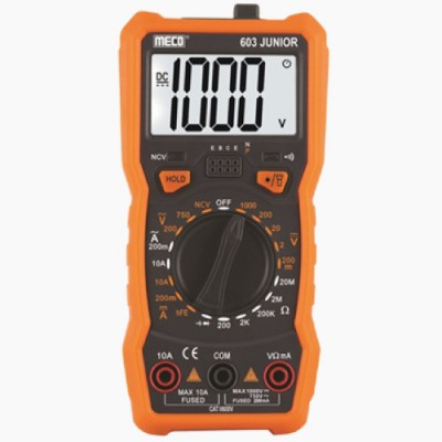 MECO Model 603 Junior 3-1/2 Digit 1999 LCD Display Digital Multimeters