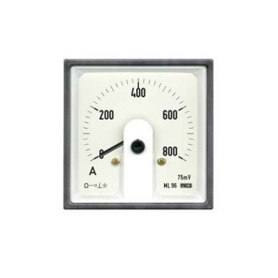 MECO DC MOVING COIL DIN PANEL AMMETER & VOLTMETERS   ML96 DC